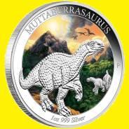 Австралия 1 доллар 2015 Динозавр. Muttaburrasaurus Серебро Эмаль