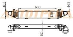 Радиатор интеркулера MERCEDES BENZ C-CLASS W204 06-14/E-CLASS W212 09- SAT ST-A2045000500