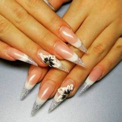 Наращивание и дизайн ногтей акрил