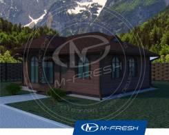 M-fresh Topazzzzz (Готовый проект небольшого уютного дома! ). до 100 кв. м., 1 этаж, 3 комнаты, каркас