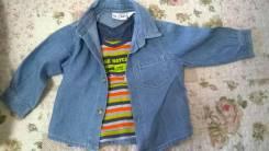 Рубашки джинсовые. Рост: 68-74, 74-80 см