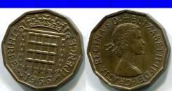3 пенса 1966 Великобритания