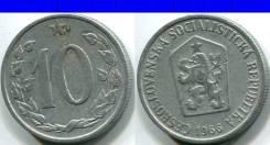 10 геллеров 1966 Чехословакия