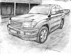 Порог кузовной. Toyota Land Cruiser, FZJ105, FZJ100, UZJ100 Lexus GX470, UZJ120