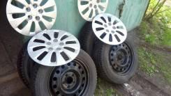 Dunlop SP. Зимние, шипованные, 2013 год, износ: 10%, 4 шт