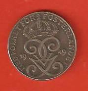 2 эре 1949 г. Швеция.