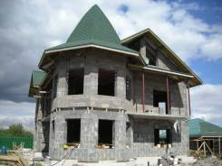 Коттеджное строительство из блоков, кирпича, монолитные