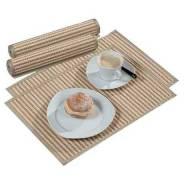 Салфетка под горячее из бамбука - 30х45 каждая, набор 6 шт, Япония