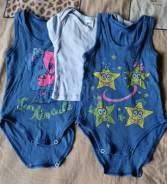 2 бодика-маечки и футболка на лялю