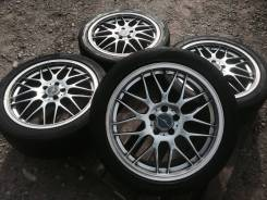 Темный хром Stich на шинах Toyo 215/45/17. 7.0x17 5x114.30 ET48 ЦО 72,0мм.