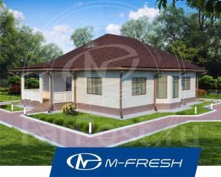M-fresh Legend (Вот, он! Свежий проект 1-этажного дома с 4 комнатами! ). 100-200 кв. м., 1 этаж, 4 комнаты, бетон