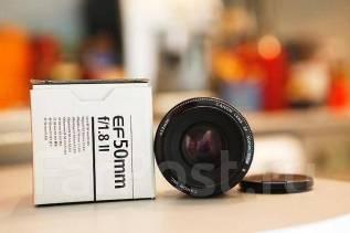 Объектив Canon EF 50mm F1.8 II. Для Canon, диаметр фильтра 58 мм