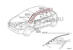 Молдинг крыши. Toyota Nadia, ACN15, SXN15, ACN10, SXN10 Двигатели: 3SFSE, 1AZFSE, 3SFE
