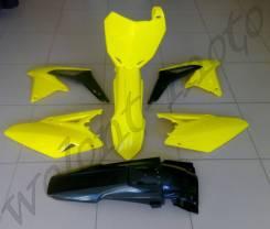 Комплект пластика Polisport Suzuki RMZ450 08-16 черно желтый 90627