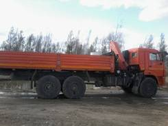 Камаз. Бортовой с манипулятором, 11 760 куб. см., 10 000 кг.