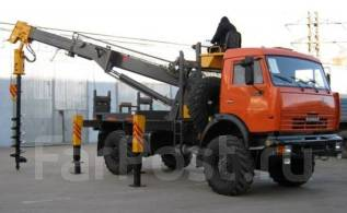 Junjin. Кранбуровая JunJin SA-040C, D-450 мм. на шасси Камаз 43502 - 4x4, 4 000 кг.