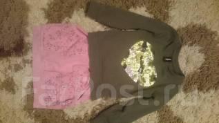 Одежда на девочку одним лотом с рубля. Рост: 98-104, 104-110 см