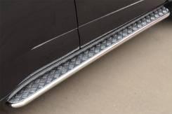 Пороги труба с листом Chevrolet Trailblazer 2013. Chevrolet TrailBlazer, 31UX Двигатели: LY7, LWH. Под заказ