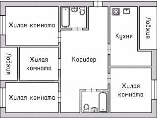 4-комнатная, улица Тургенева 55. Центральный, агентство, 130 кв.м.
