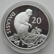 20 даласи 1989 г., Гамбия, Серебро, Фауна