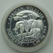 100 шиллингов 2013 г., Сомали, Серебро, Фауна