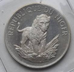 10 франков 1968 г., Республика Нигер, Серебро, Фауна