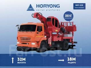 Horyong Sky. Новая автовышка Horyong SKY-320 для монтажа на шасси, вылет 32 м., 32 м.