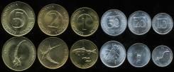 Словения набор 6 монет 1992 2001 Животные UNC (иностранные монеты)
