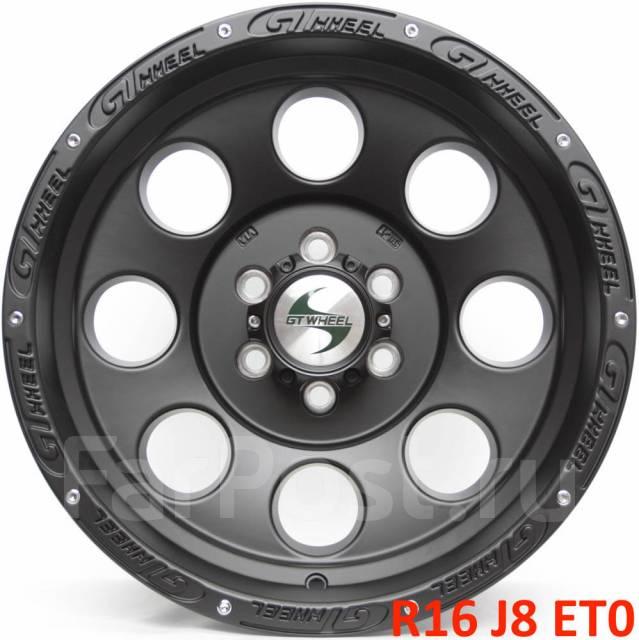 Новые! GT Wheels R16 J8 ET0 6X114.3 [2506]. 8.0x16, 6x114.30, ET0, ЦО 78,3мм.