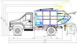 ГАЗ. Новинка! Ряжский мусоровоз на Next, 9м3, в наличии на стоянках, 3 760куб. см., 2 800кг.