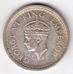 Индия рупия 1945 George VI Серебро