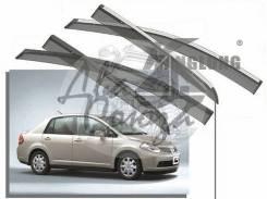 Ветровик на дверь. Nissan Tiida, C11, JC11, NC11 Двигатели: MR18DE, HR15DE, HR16DE