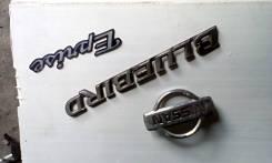 Эмблема багажника. Nissan Bluebird, QU14 Двигатель QG18DE