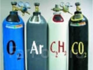 Баллоны гелий, пропан, кислород, ацетилен и другие.