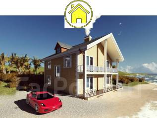 046 Za AlexArchitekt Двухэтажный дом в Салаире. 100-200 кв. м., 2 этажа, 7 комнат, бетон