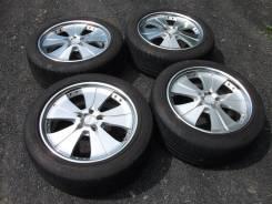 R18 кованые колеса в сборе из Японии. 8.0x18 5x114.30 ET43 ЦО 73,1мм.