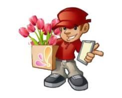 Требуется курьер на доставку цветов, желательно работающий в такси