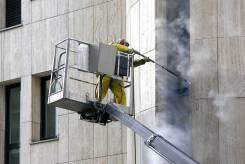 Услуги Клининг мойка фасадов автовышка 45 метров вышка автоподъёмник