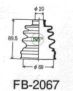 Пыльник привода ШРУС TG-2067/53-414 TiGUAR TiGuar