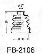 Пыльник привода ШРУС TG-2106/73-414 TiGUAR TiGuar