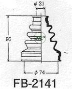 Пыльник привода ШРУС TG-2141/02-136 TiGUAR TiGuar