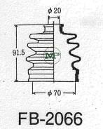 Пыльник привода ШРУС TG-2066/53-413 TiGUAR TiGuar