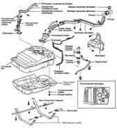 Трубка топливная. Toyota Land Cruiser, UZJ100W, UZJ100, UZJ100L Двигатель 2UZFE