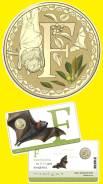 Австралия 1 доллар 2017 Серия Алфавита Буква F. Летучая Мышь