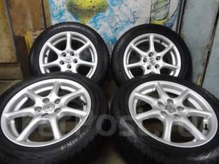 Продам Отличные Стильные колёса Toyota Estima+Зима Жир 215/55R17. 7.0x17 5x114.30 ET50