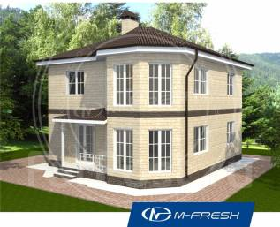 M-fresh Leonardo (Купите сейчас проект со скидкой 20%! ). 200-300 кв. м., 2 этажа, 2 комнаты, бетон