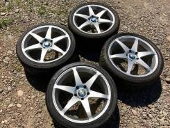 Красивые , фирменные колёса Rays +жирное лето !. 8.5x18 5x114.30 ET33 ЦО 73,1мм.