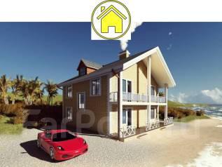 046 Za AlexArchitekt Двухэтажный дом в Корсакове. 100-200 кв. м., 2 этажа, 7 комнат, бетон