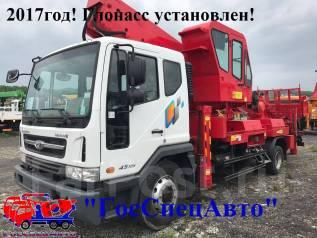 Daewoo Novus. Автовышка Horyong 45SKY-2013г на шасси 2017года. Глонасс!, 5 890 куб. см., 43 м.