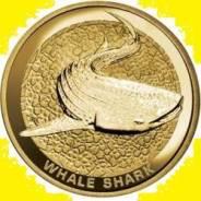 Австралия 1 доллар 2008 Whale Shark Китовая Акула. Карточка